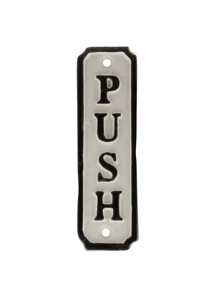 HomArt Door Push Cast Iron Sign - Set of 2