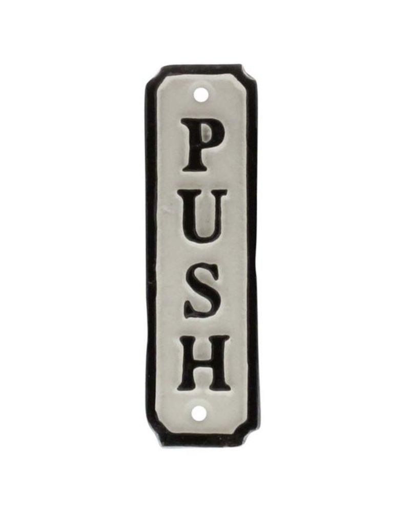HomArt Door Push Cast Iron Sign - Set of 2