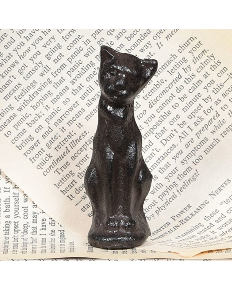 HomArt Cinder the Sitting Cat Statue  - Cast Iron - Set of 2