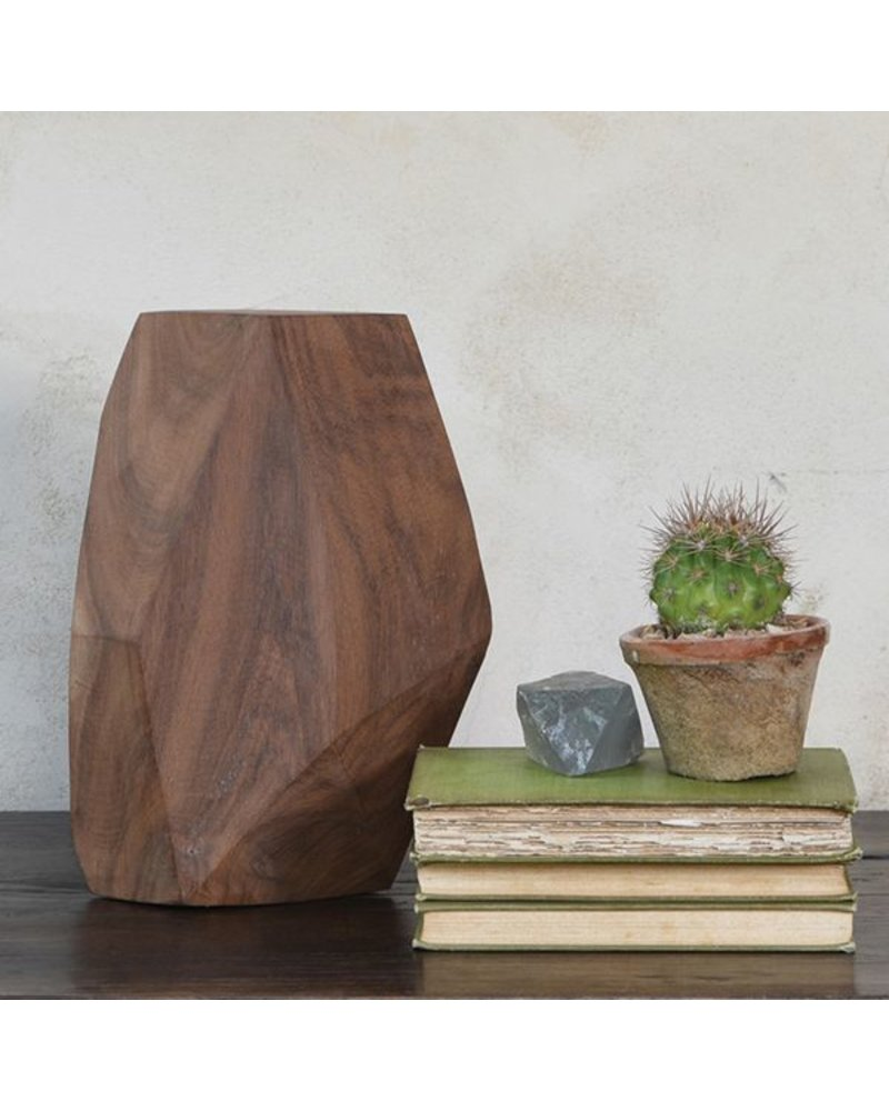 HomArt Faceted Wood Object - 10""