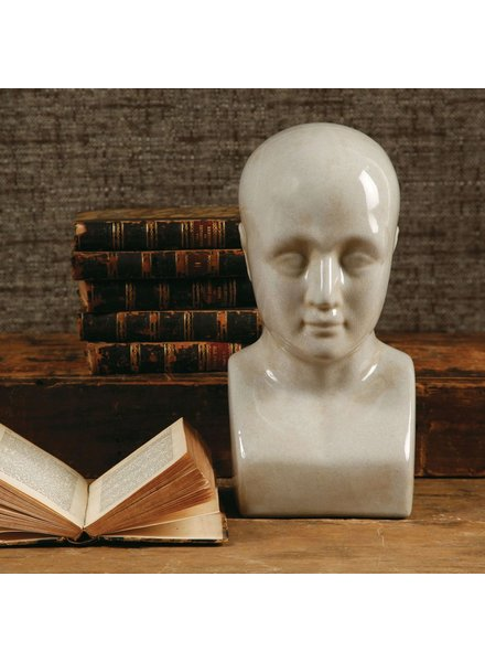 HomArt Phrenology Head - Ceramic - Lrg White