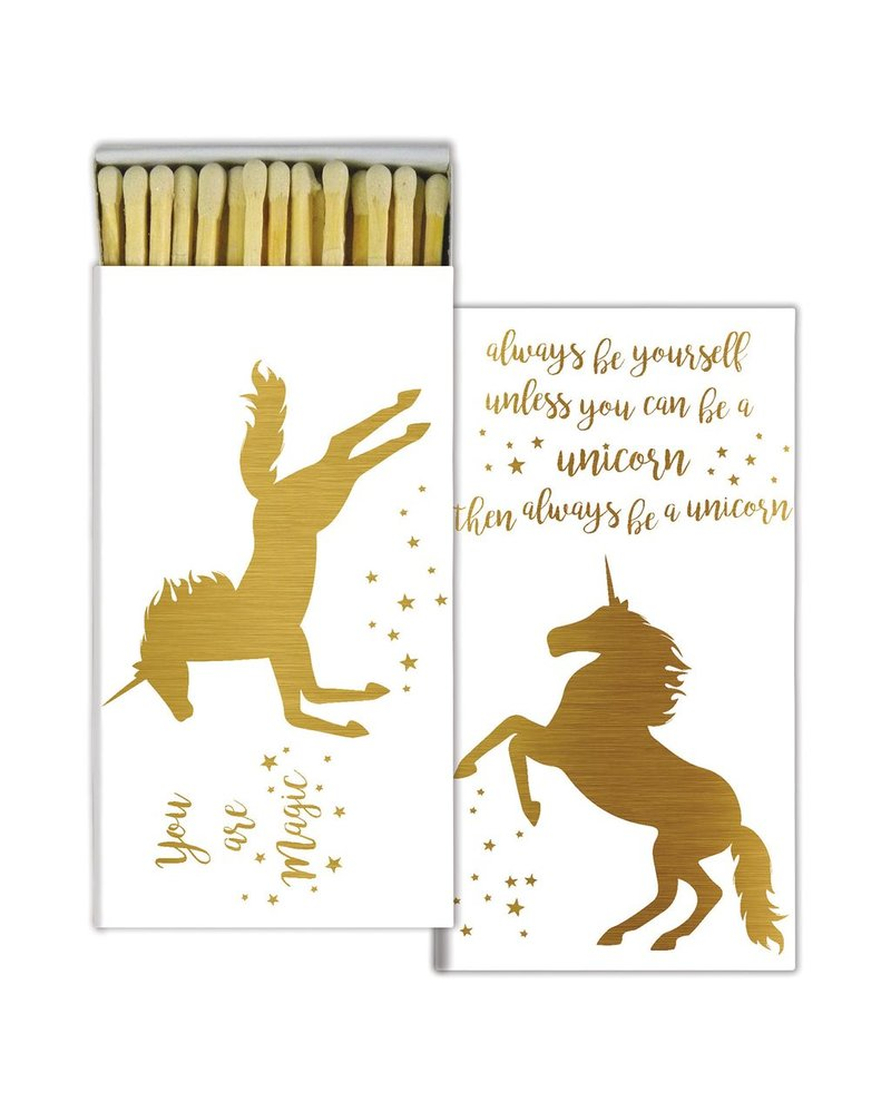 HomArt Magical Unicorn HomArt Gold Foil Matches Set of 3 Boxes