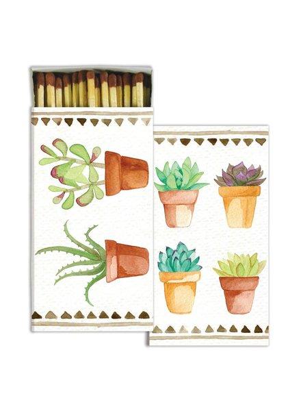 HomArt Watercolor Succulents  HomArt Matches Set of 3 Boxes