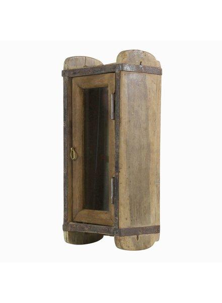 HomArt Indus Brick Mold - Cabinet with Glass Door