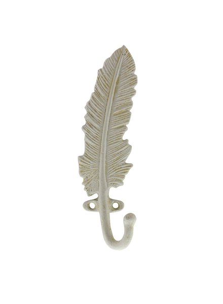 HomArt White Feather Wall Hook - Cast iron