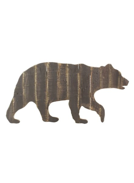HomArt Wood Slat Bear Wall Art