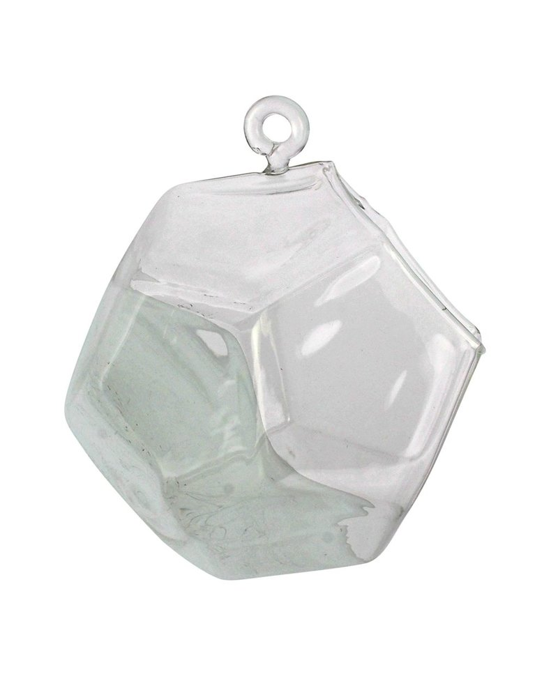 HomArt Hanging Faceted Bubbles Glass Dodecahedron - Lrg