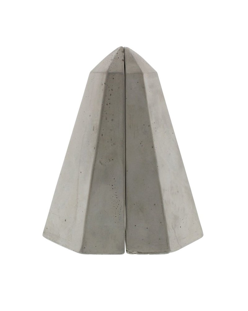 HomArt Geometric Cement Bookends - Obelisk