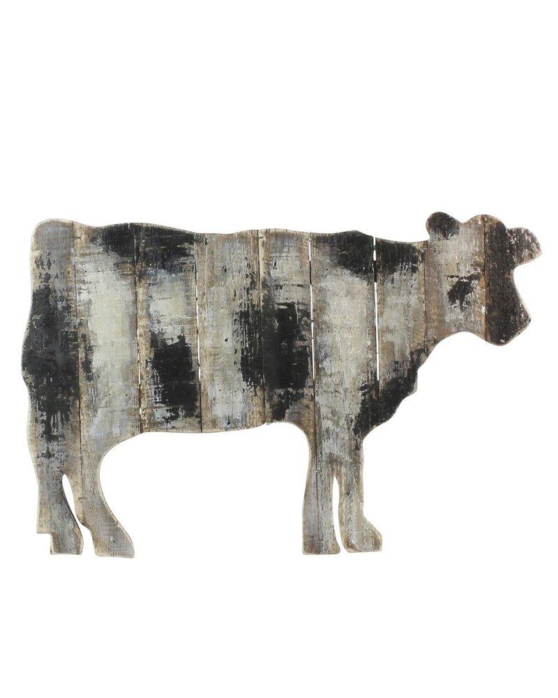 HomArt Wood Slat Cow Wall Art