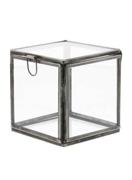 HomArt Pierre Demi Leaded Glass Box - Small Silver