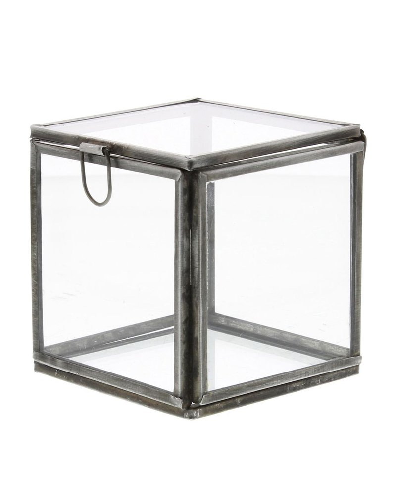 HomArt Pierre Demi Leaded Glass Box - Small Silver