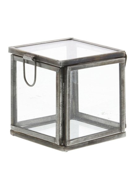 HomArt Pierre Demi Leaded Glass Box - Petite Silver