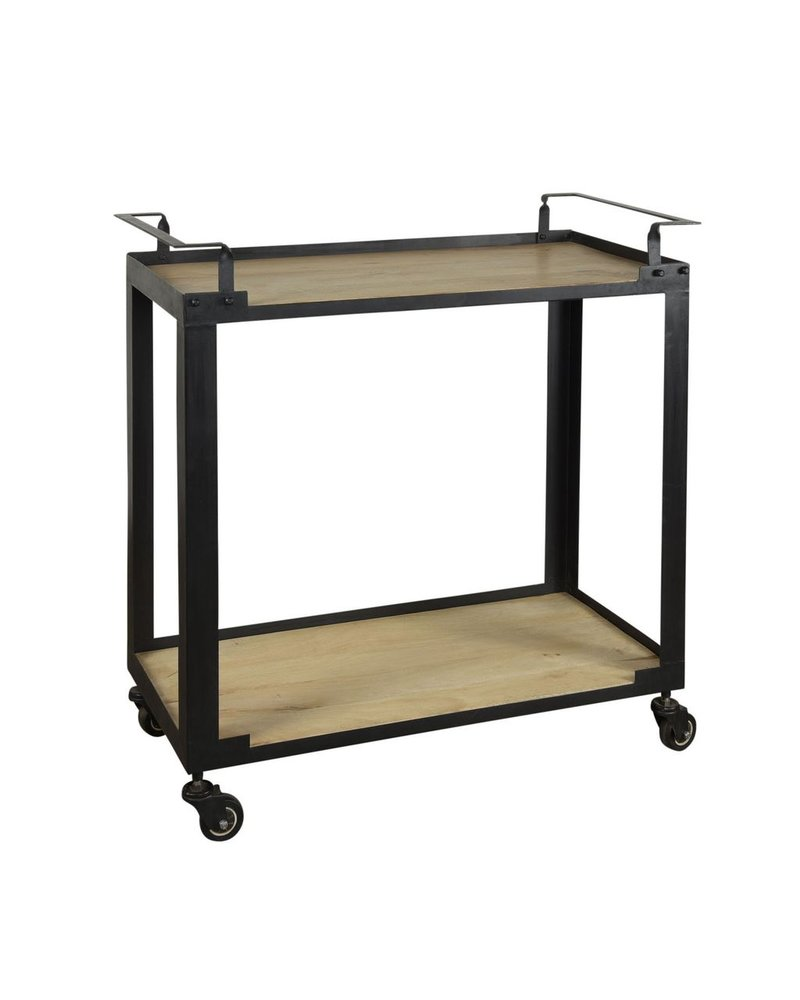 HomArt Mateo Bar Cart - Iron and Wood