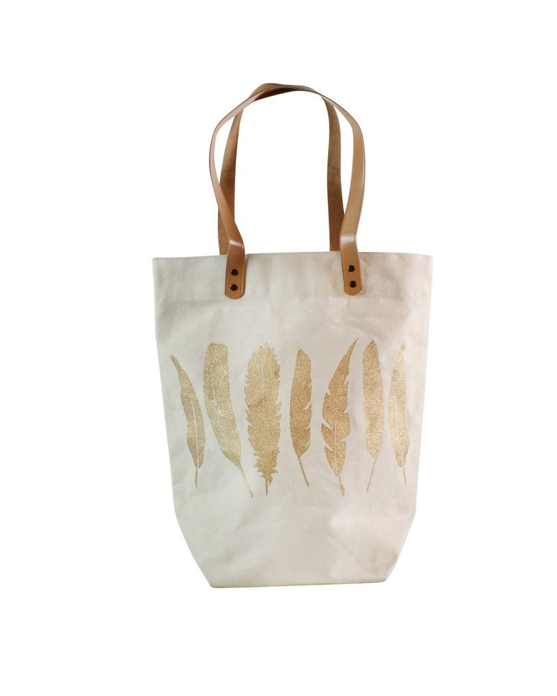 HomArt Bohemian Tote - Feathers