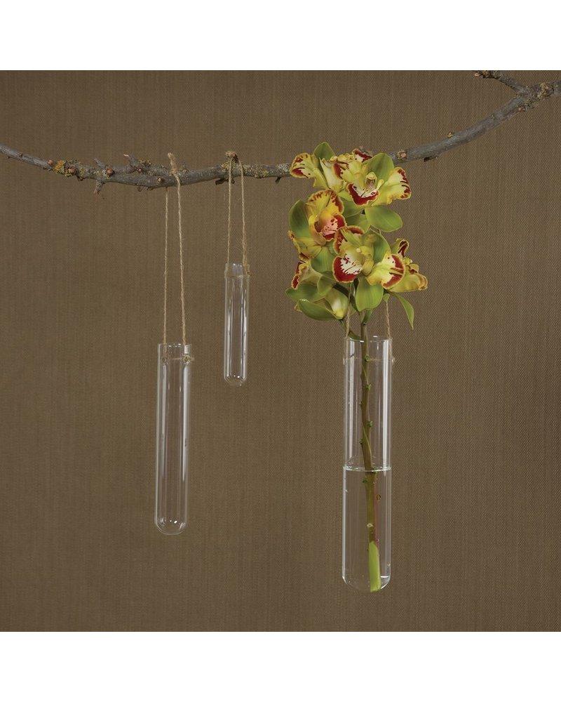 HomArt Hanging Glass Tube Vase - Small - Set of 2
