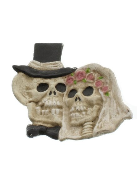 HomArt Skeleton Bride and Groom Dish - Cast Iron