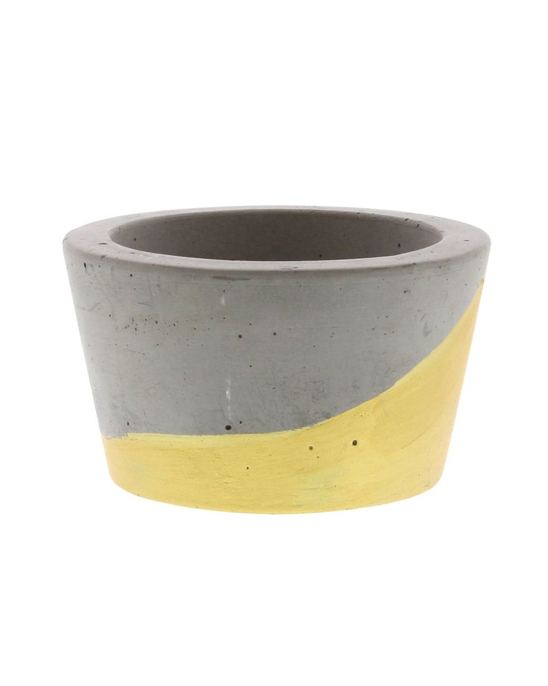 HomArt Cement Tealight Holder in Gold - Sm