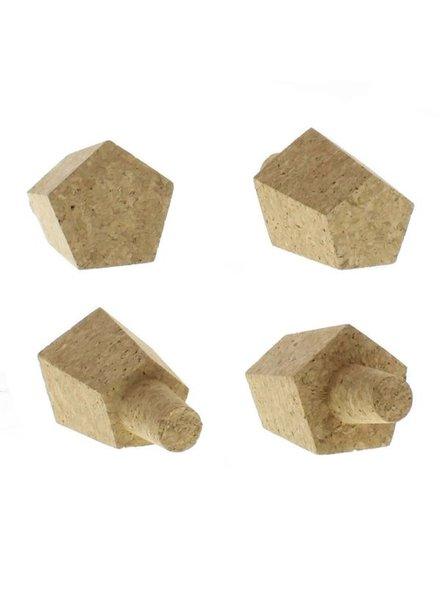 HomArt Hexagon Cork Bottle Stops - Set of 2, Assorted