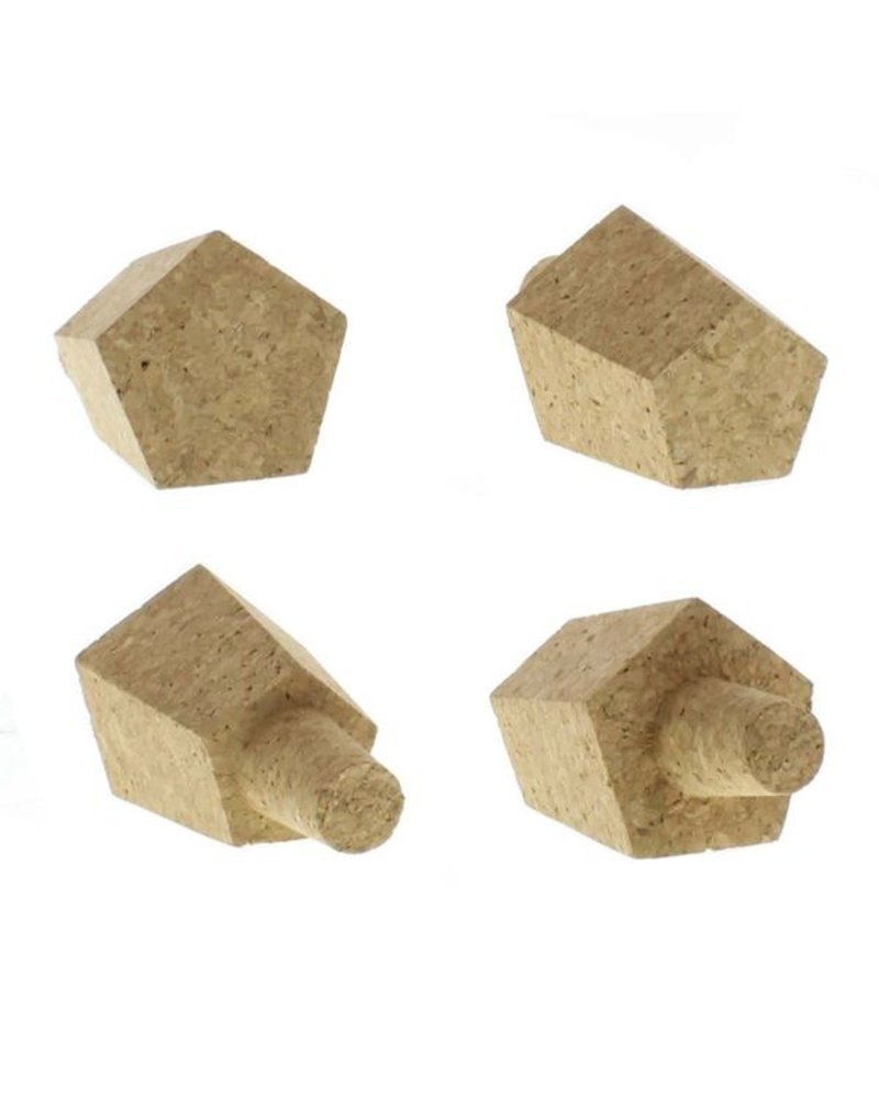 HomArt Hexagon Cork Bottle Stops - Set of 2, Assorted