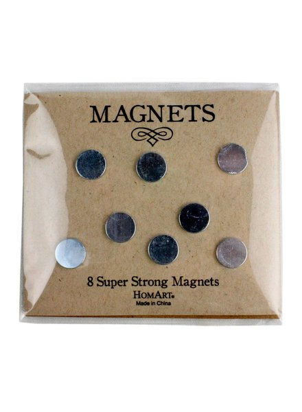 HomArt Super Strong Magnets - Pack of 8