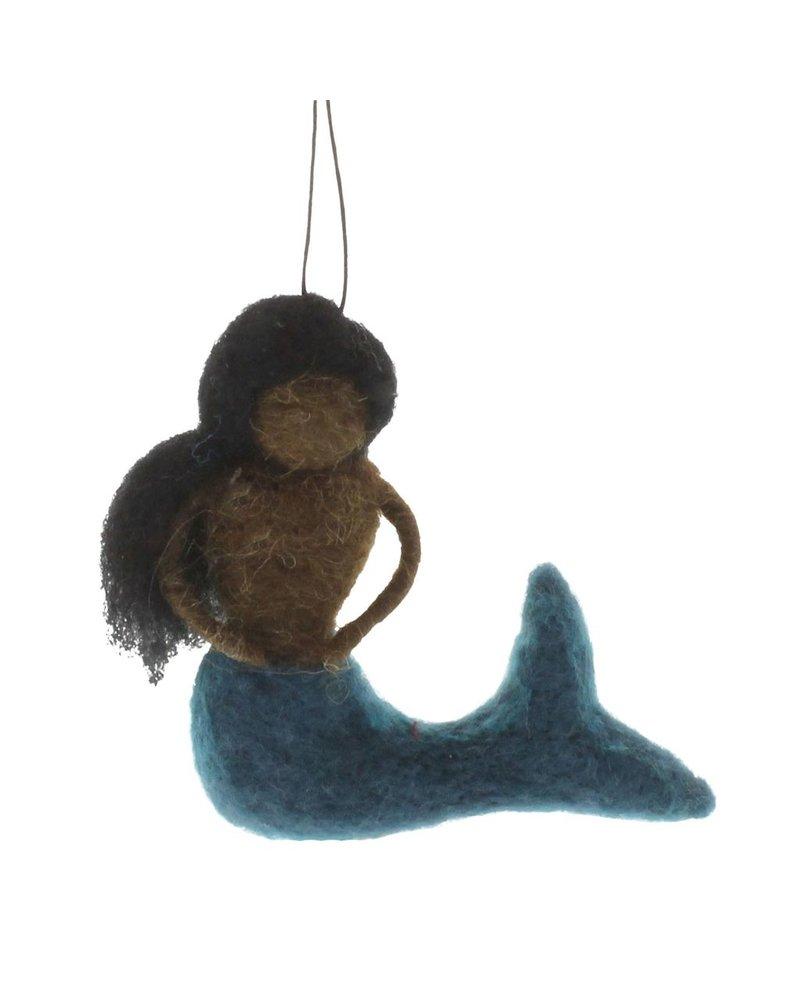 HomArt Felt Mermaid Ornament - Ebony