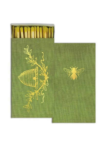 HomArt Bee Crest HomArt Gold Foil Matches Set of 3 Boxes