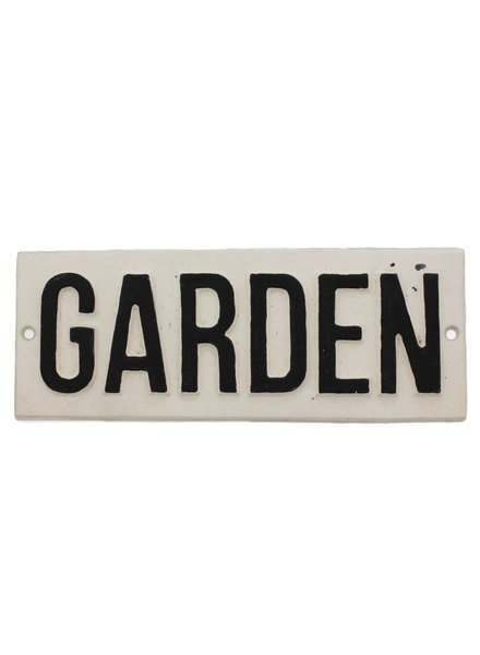 HomArt Cast Iron Sign - Garden