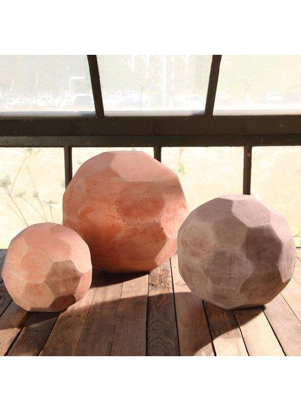 HomArt Terracotta Faceted Sphere - Lrg