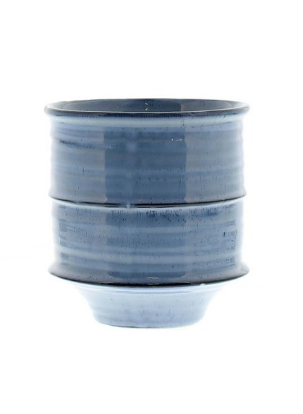 HomArt Shibori Ceramic Vase - Sm - Fancy Blue
