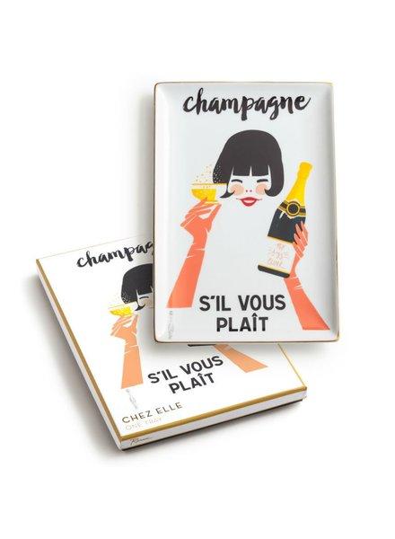 Chez Elle Champagne Tray