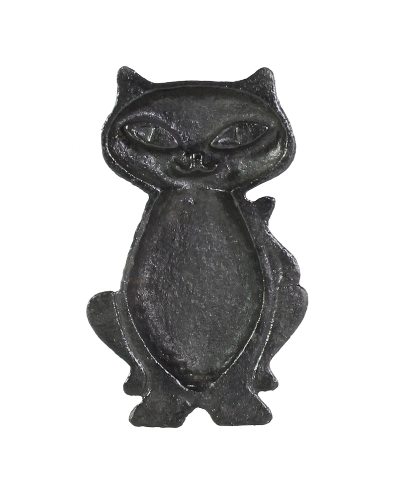 HomArt Cat Dish - Cast Iron - Black