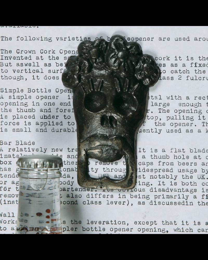 HomArt Chela Skull HomArt Cast Iron Bottle Opener - Set of 2