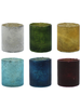 HomArt Glass Votive - Set of 6, Assorted Colors  6 colors, Assorted