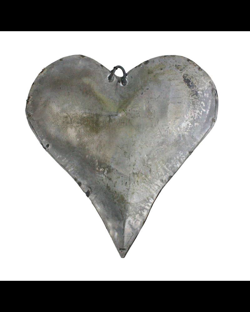 HomArt Tin Man's Heart Galvanized - Set of 2
