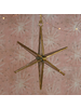 HomArt Antique Mirrored Star Ornament, Glass & Brass