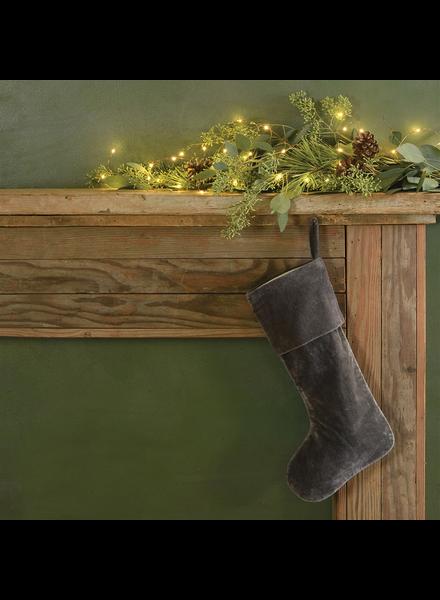 HomArt Velvet Stocking - Dark Grey