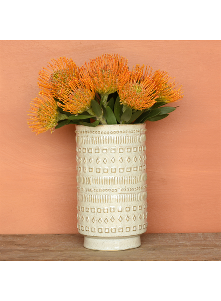 HomArt Peru Vase, Ceramic - White