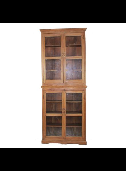 Wood/Glass Tall Cabinet