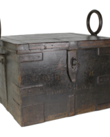 Vintage Wood & Iron Box w/Handles