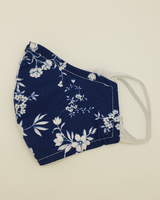 Marta's Face Mask's Blue Floral Womens Face Mask