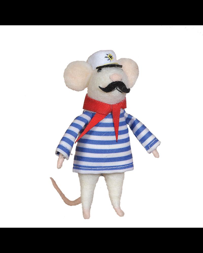 HomArt Felt Sailor Mouse Ornament