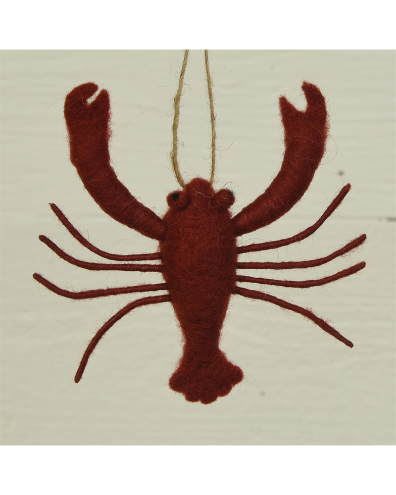 HomArt Lobster Ornament, Felt - Red - Red
