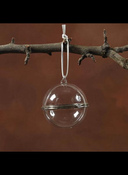 HomArt Glass Keepsake Box Ornament - Sphere - Set of 2