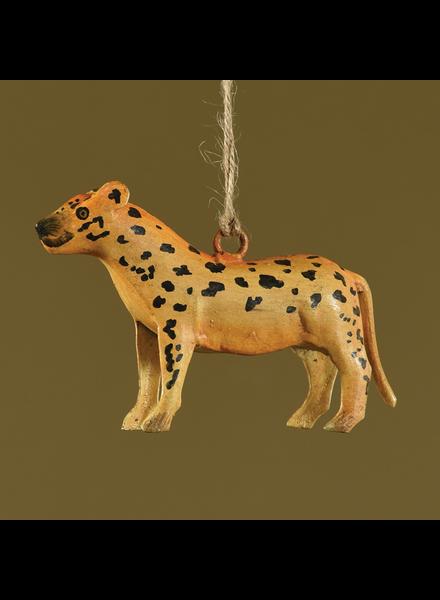 HomArt Cheetah Hand-Painted Metal Ornament - Set of 2