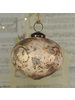HomArt Fiona Ornament, Glass, Bulb - Antique Blush - Matte Gold