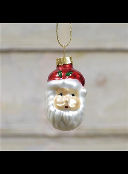 HomArt Glass Santa Head Ornament Set of 6