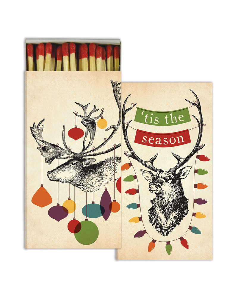 HomArt Decorated Stag HomArt Matches Set of 3 Boxes