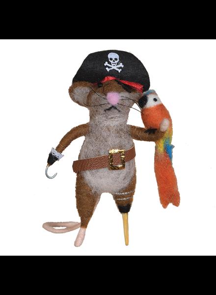 HomArt Felt Pirate Mouse Ornament