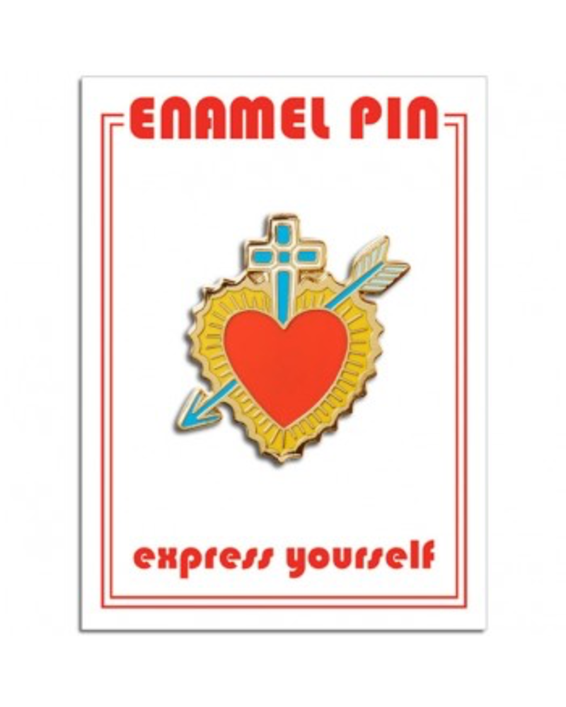 The Found Cards & Gifts Sacred Heart Enamel Pin