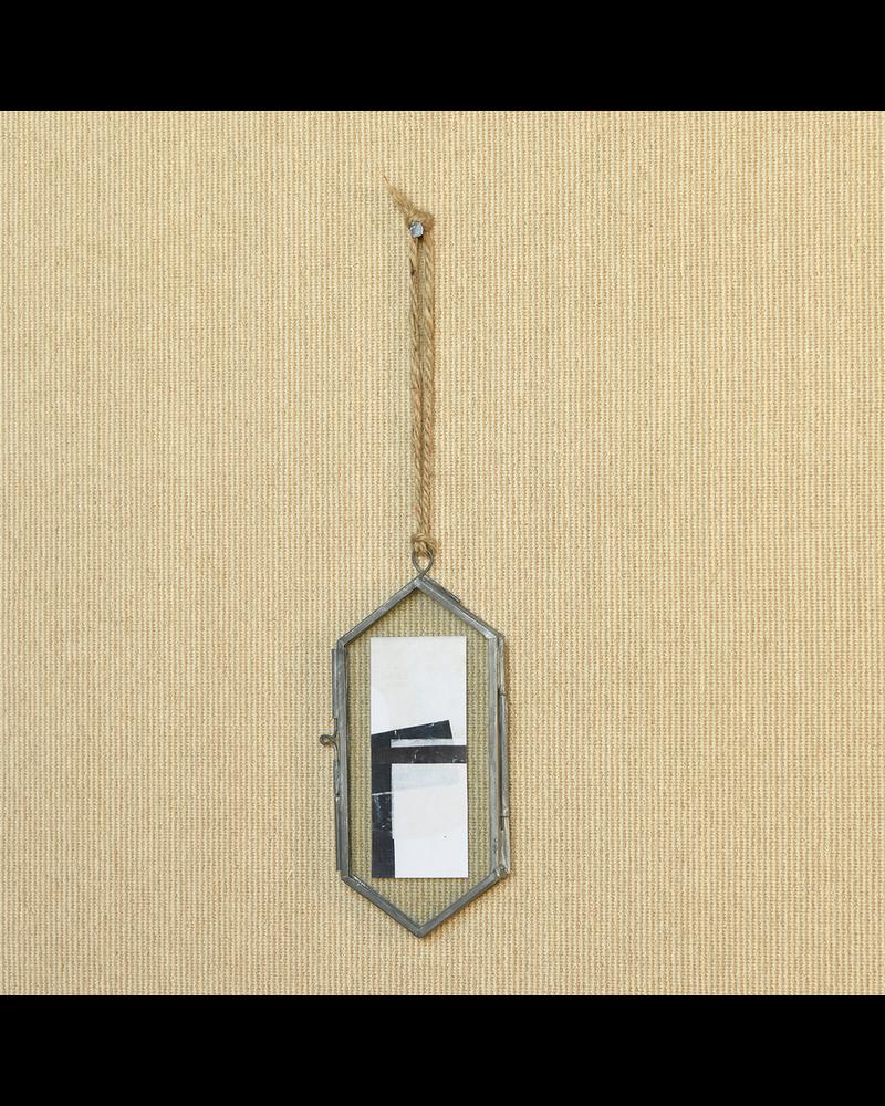 HomArt Geo Ornament Frame, Zinc - Lrg - Burnt Antique
